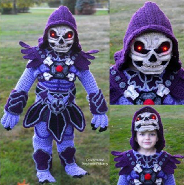 Halloween Skeletor by crochetverse